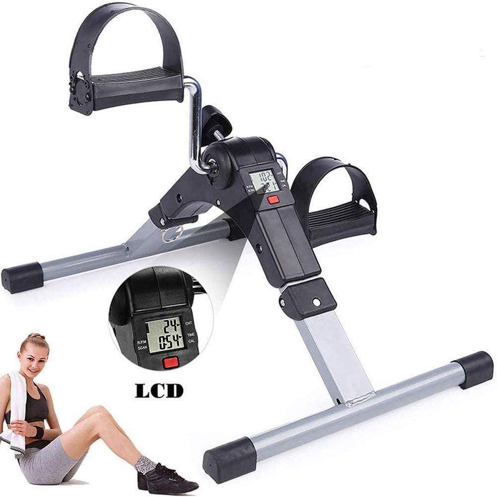 Mini bicicleta estática con almohadillas antideslizantes y tecnología antideslizante de pedal adecuada para el hogar, la oficina, el gimnasio y otros lugares para hacer ejercicio, entrenamiento de reh