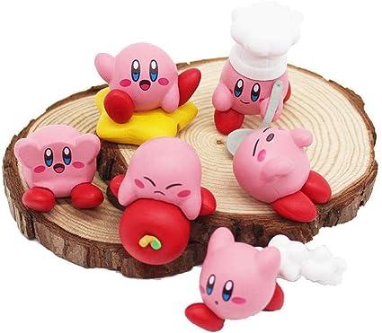 Desktop Decoration 6pcs Set Anime Cartoon Cute Kirby Pvc Figurines Pokemon Model Miniatures Bedroom Decoration Crafts Kirby S Dream Land Kids Gift Decorations Amazon Canada