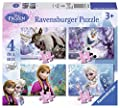Box Of 4 Disney Frozen Puzzles