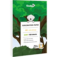 Koala 150 sheets Sublimation Paper A4 for Heat Transfer DIY gift compatible with Inkjet Printer with Sublimation Ink
