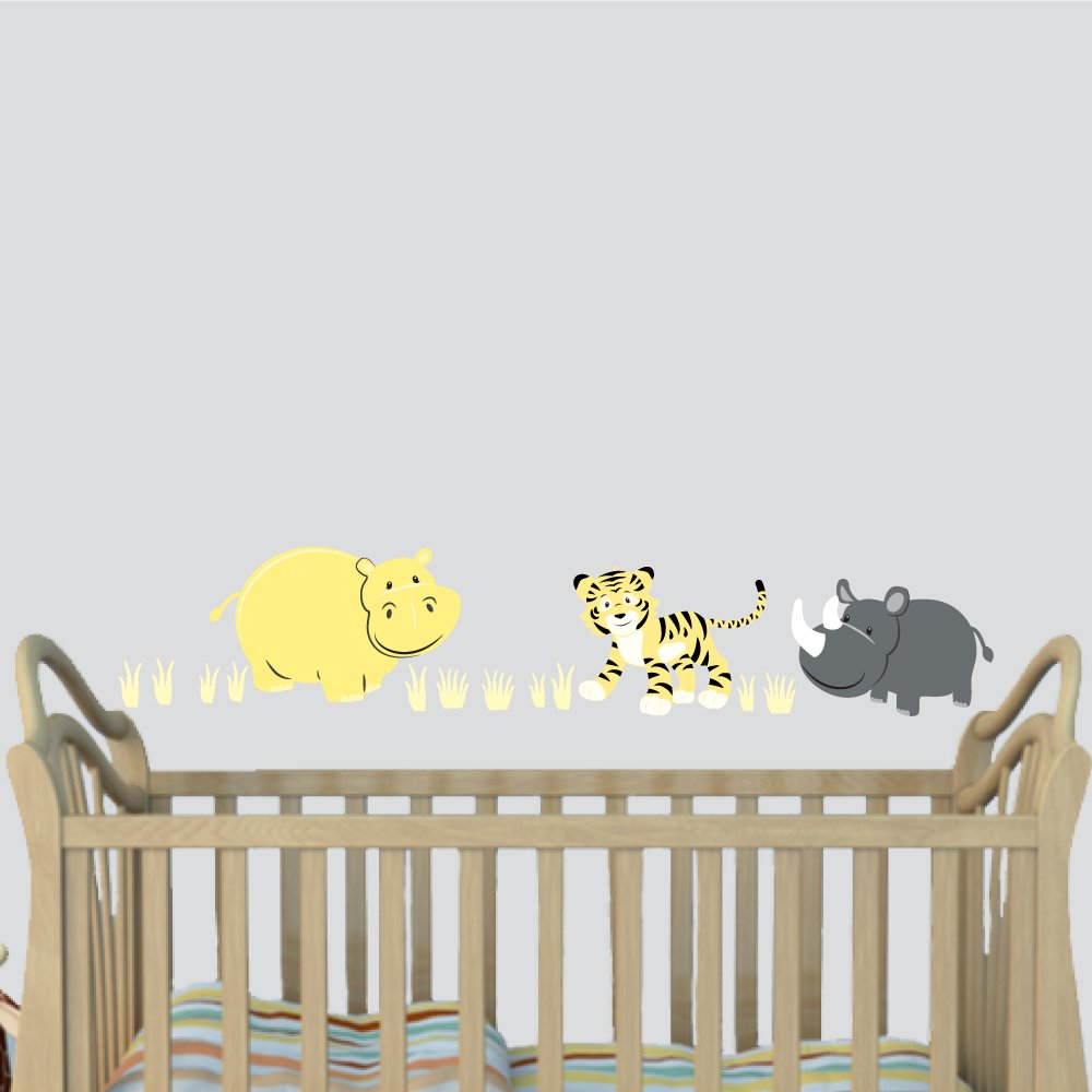 Amazoncom Hippo Wall Decal Baby Room Decor Yellow Gray Décor - Baby room decals