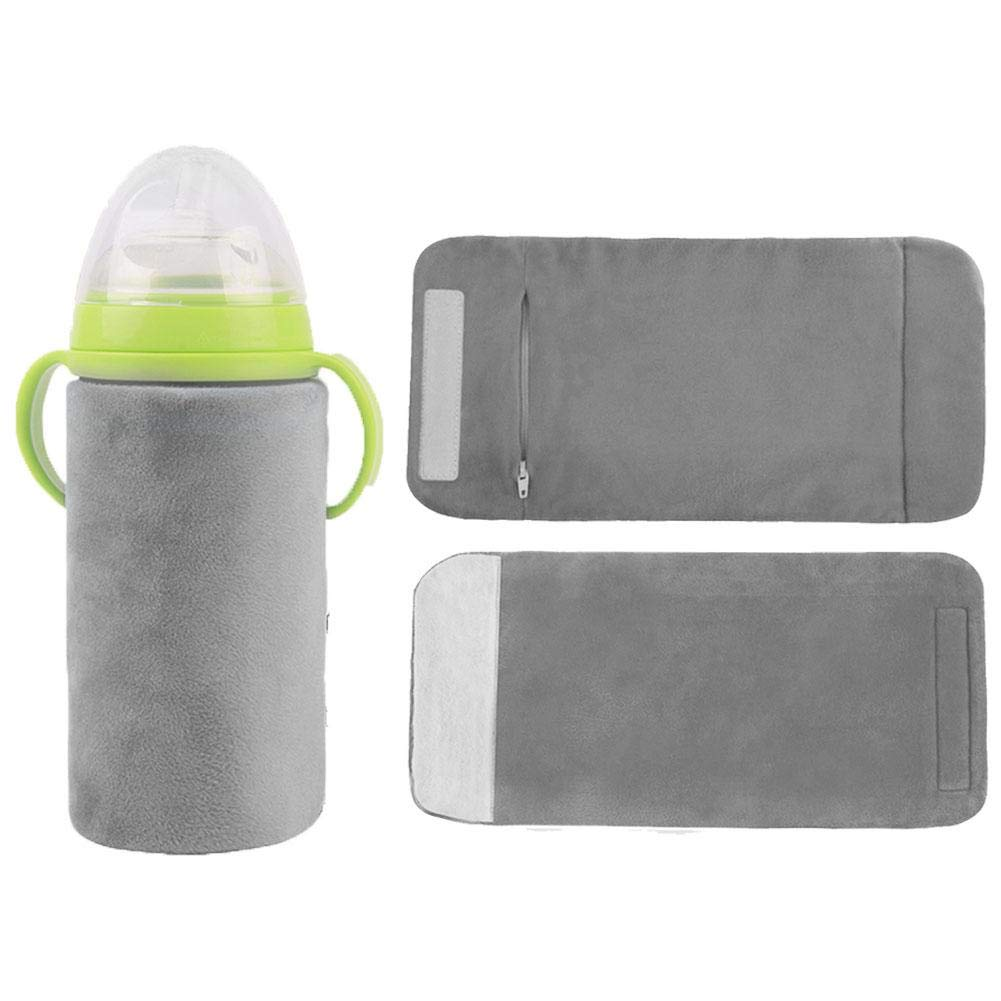 Portable USB Baby Bottle Warmer Feeding Bottle Insulation Cover Thermostat Milk Heating Warmer Use for Outdoors Travel Ya-tube