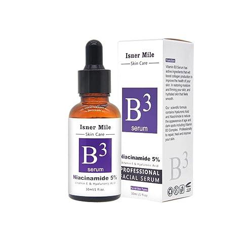 KOBWA Vitamina B3 Serum Niacinamida 5% Crema Cara Aprieta Pores, Reduce las Arrugas,
