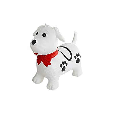 Black & White Dog Bounce & Ride-on Inflatable Hopper Toddler Toy with Pump: Toys & Games