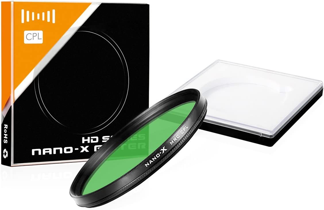 Slim Frame Filter 40.5mm Circular Polarizer CPL 20 Layer NANO Coated SCHOTT Glass For Lens with 40.5 mm Filter thread