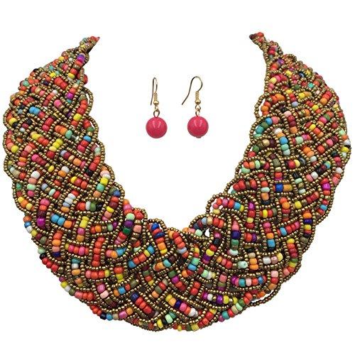 Multi Bead Necklace Set - 3