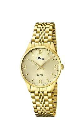 Lotus 15886/3 - Reloj de Cuarzo para Mujer, con Correa de Acero Inoxidable, Color Dorado: Amazon.es: Relojes