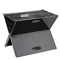 Blackpoolal Laptop Grill XL Schwarz Grill günstig kaufen Balkon Camping Picknick ✔ eckig ✔ tragbar ✔ Grillen mit Holzkohle