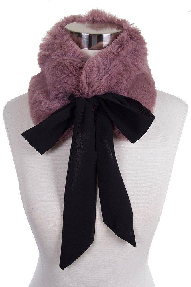 ScarvesMe Elegance Warm Faux Fur Soft Collar Scarf (Mauve)