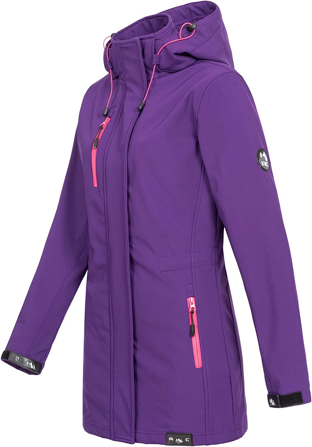 Rock Creek D-423 Women's Softshell Outdoor Jacket Purple