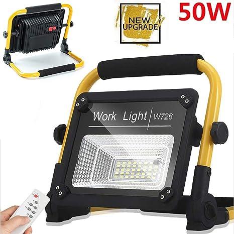 Foco Proyector LED 50W, Luz Blanca 6000K, reflector de recarga de ...