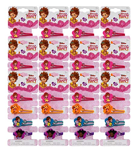 12 Set Fancy Nancy Kids Ponytail 4pcs Hair Accessories Ponies for Girls Children