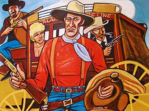 STAGECOACH PRINT POSTER man cave art John Wayne western movie dvd winchester rifle colt 45 pistol cowboy hat rifle