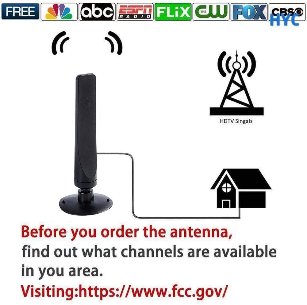 haptern 1080P Digital TV Antenna 1000 Miles Signal Receiver Amplifier Indoor HDTV Antenna Mini DVB-T2 Antenna 3.0M