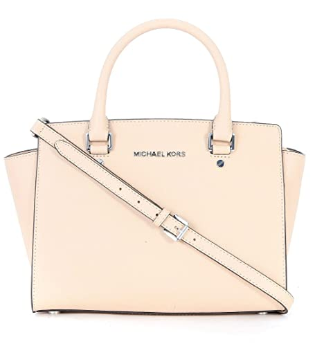 b810f5b17269 MICHAEL Michael Kors Selma Medium Satchel Bag Ballet One Size   Amazon.co.uk  Shoes   Bags