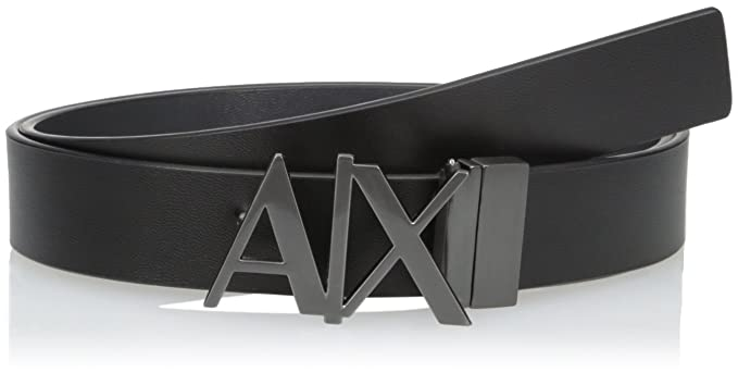 best shoes order online super cheap Armani Exchange Men's Leather Logo Hinge Belt