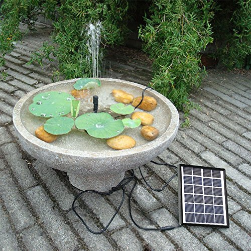 Lewisia Solar Bird Bath Fountain Pump Solar Powered Water Pump for Birdbath Small Pond Garden Decoration