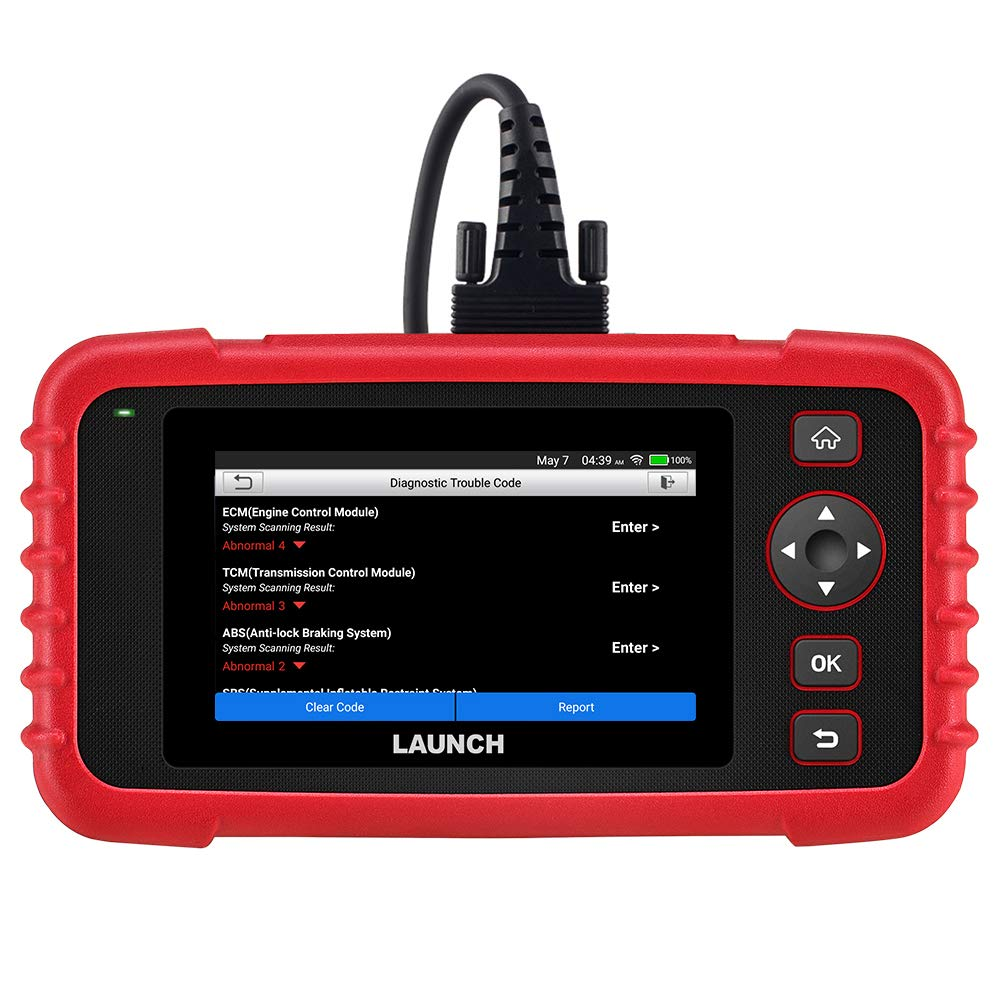 LAUNCH OBD2 Scanner - CRP123X Scan Tool for Engine Transmission ABS SRS Code Reader Car Diagnostic Tool, Android 7.0-Based Wi-Fi One-Click Free Updates, 5.0'' Touchscreen, Upgraded Version of CRP123