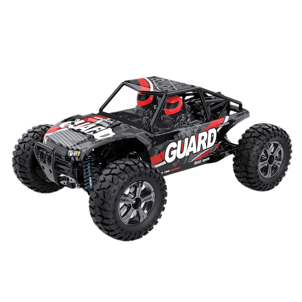 Wenini Off-Road RC Car Toy 1/14 Scale High Speed 22km/h 2.4Ghz 4WD Radio Controlled Off-Road RC Car (Red)