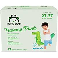 Amazon Brand - Mama Bear Training Pants For Boys 2T-3T, 74 Count