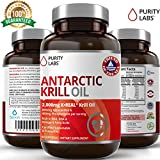 PurityLabs Antarctic Krill Oil Capsules with Astaxanthin - 2000mg per serving with Phospholipids and Omega 3 for Heart Brain and Joint Support, 30 Day Supply