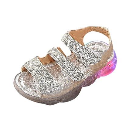 32e1932c4 Soupliebe Sandalias niña Verano Zapatos Planos de Chicas Flor Sandalias  para niñas Calzado Zapatos de Vestir Zapatos Princesa Zapatillas de niñas  Princesa ...