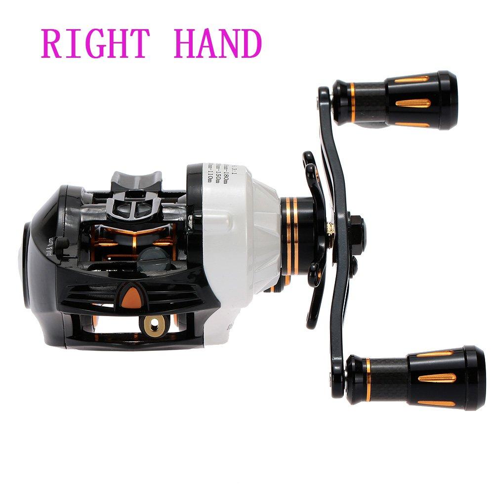1pcスーパーライトデュアルブレーキ13b + RB 6.3 : 1餌鋳造釣りリールルアーRight Hand釣りリール   B01M6D26ZB