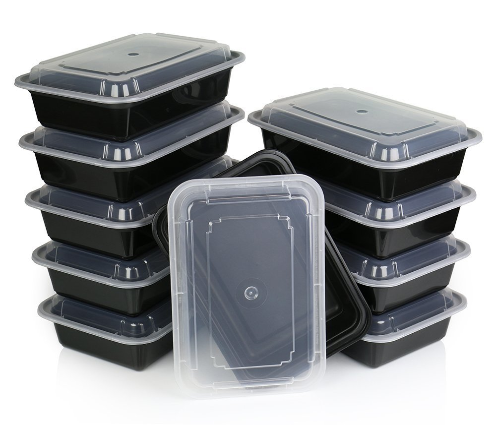 Chefland One Compartment Microwavable Plastic Food Container With Lid Bento B.. 14