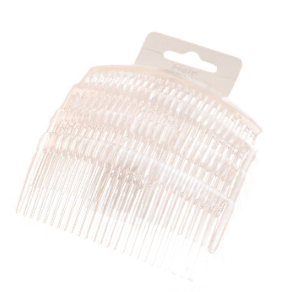 Set of 4 Clear Plain Hair Combs Slides 9cm (3.5) PRH02907