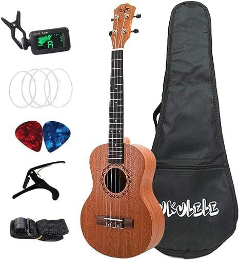 TOOGOO 26 Pulgadas Ukulele Tenor Sapele Guitarra AcúStica Hawaii ...