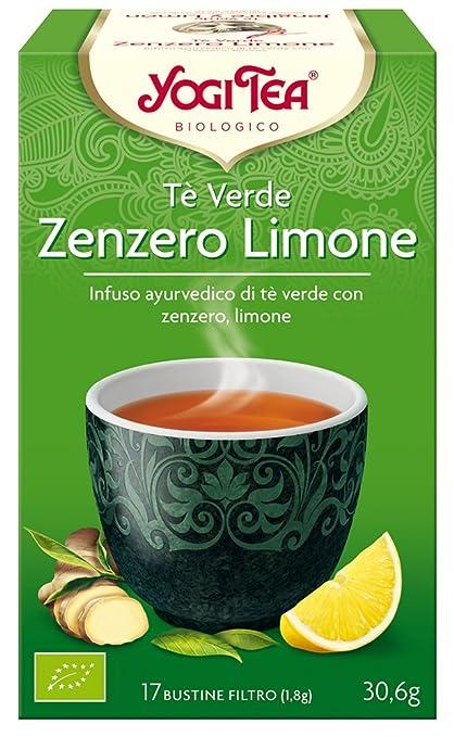 17 opinioni per Yogi Tea Tè Verde Zenzero Limone- 17 Bustine Filtro [30.6 gr]- [confezione da 3]