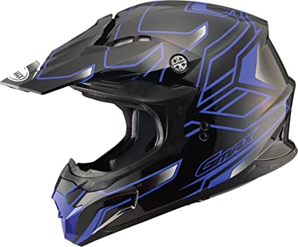 e0a8c842 Amazon.com: GMAX MX86 Unisex-Adult Off-road Full Face Motorcycle Helmet  Step (Black/Blue, X-Small): Automotive