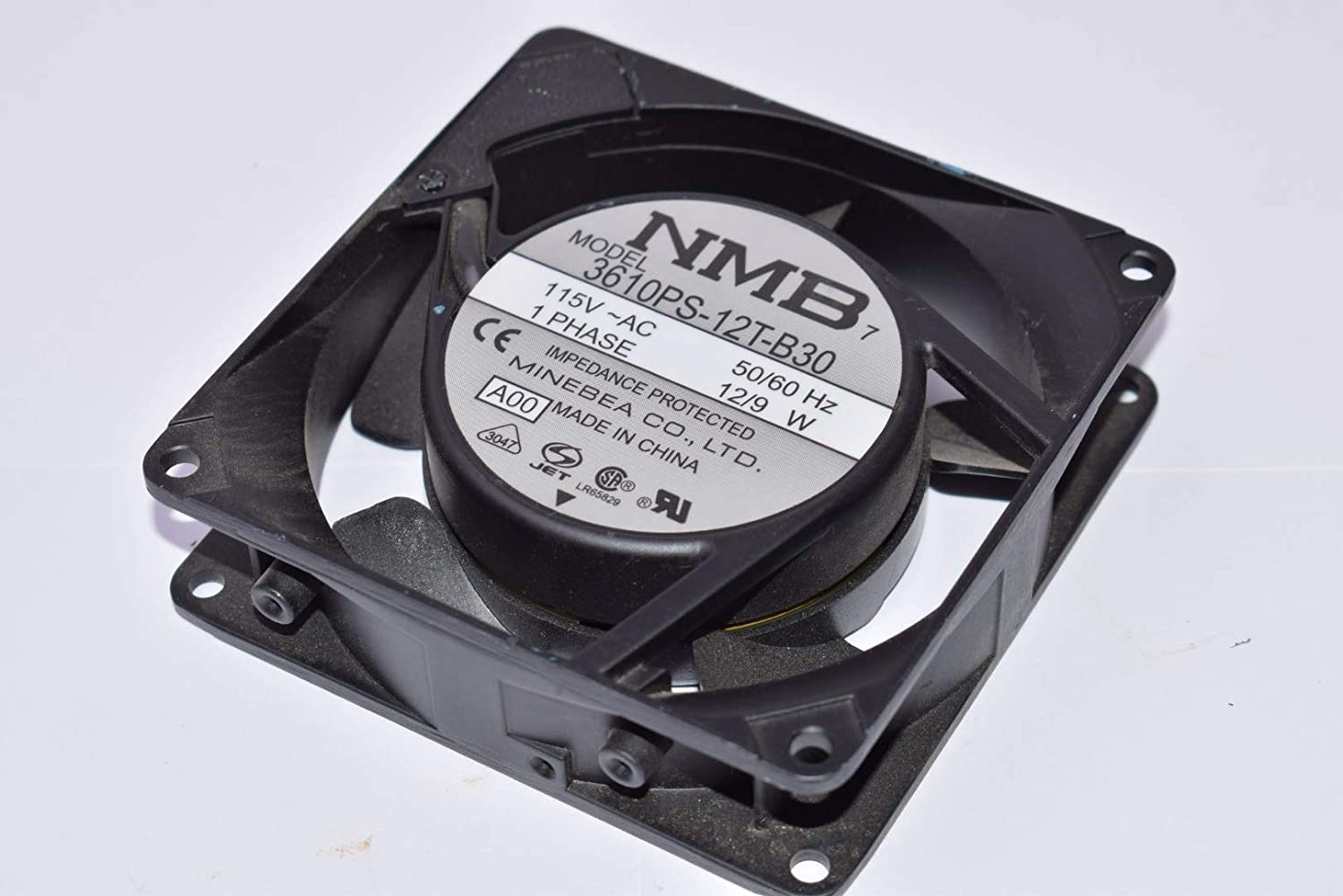 115VAC 92MM NMB TECHNOLOGIES 3610PS-12T-B30-A00 AXIAL FAN 116mA