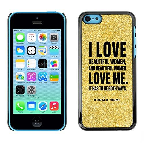Print Motif Coque de protection Case Cover // Q04040568 Donald Trump paillettes // Apple iPhone 5C