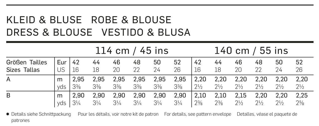 Burda B6950 Patron de Couture Robe et Blouse 19 x 13 cm