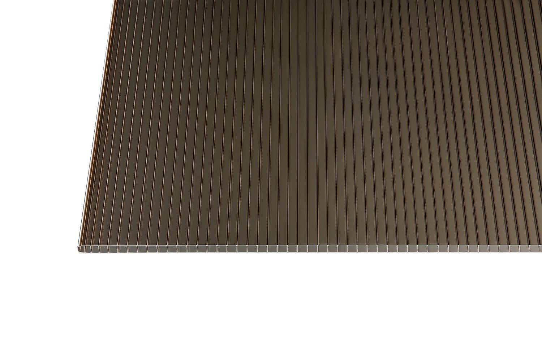 Polycarbonat Stegplatten Hohlkammerplatten bronce 10 mm 3500 x 1050 x 10 mm