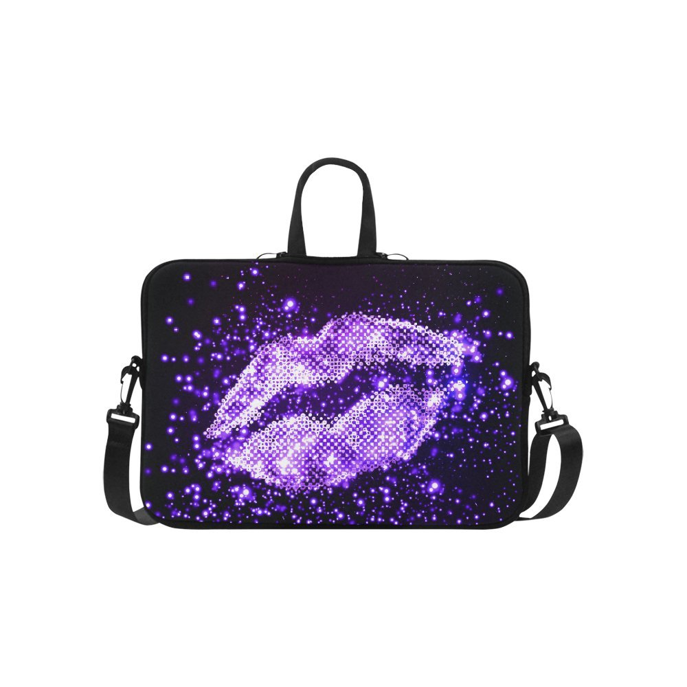 InterestPrint Classic Personalized Bling Glitter Purple Lip Love 15.4'' - 15.6'' /Macbook Pro 15 Inch Laptop Sleeve Case Bags Skin Cover for Lenovo, GW, Acer, Asus, Dell, Hp, Sony, Toshiba