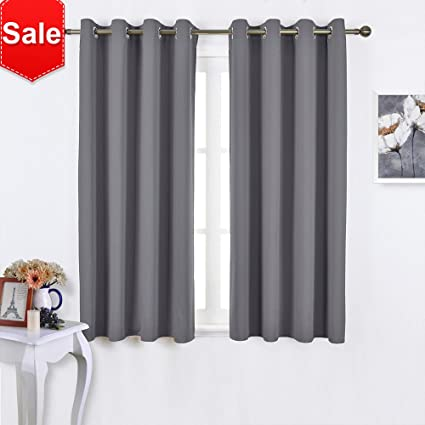 NICETOWN Blackout Curtains Panels For Bedroom   Window Treatment Thermal  Insulated Solid Grommet Blackout Drapes For