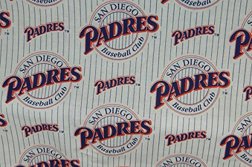 San Diego Padres Fabric Cotton MLB Baseball Craft Quilt Out of Print Rare BTY (Rare Sherry)