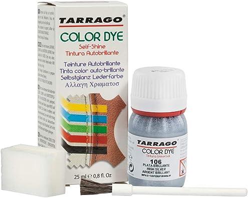 Tarrago | Self Shine Color Dye 25 ml | Tintura Autobrillante para Zapatos y Accesorios | Cubre Rozaduras y Desgastes del Calzado | Plata Brillante ...