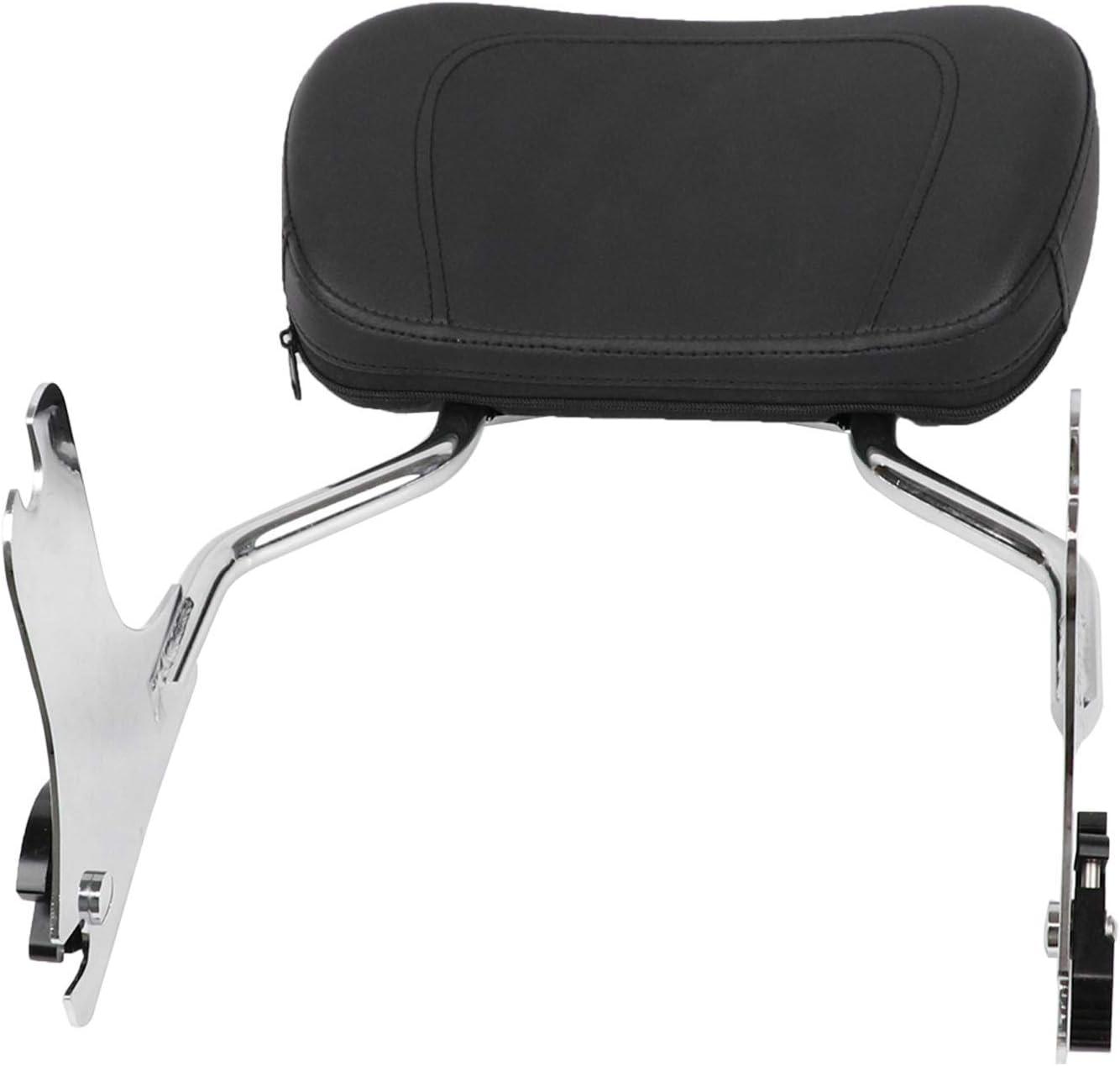 KOLEMO Detachable Backrest Sissy Bar Upright Passenger Backrest With Pad Fit For Touring Road King Street Glide FLHR FLHX FLHT FLTR 1997-2008 (Chrome)