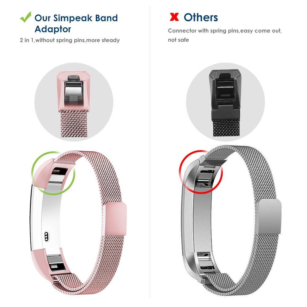 Simpeak Fitbit Alta and Fitbit Alta HR Bands Stainless Steel Strap Band for Fitbit Alta /& Fitbit Alta HR