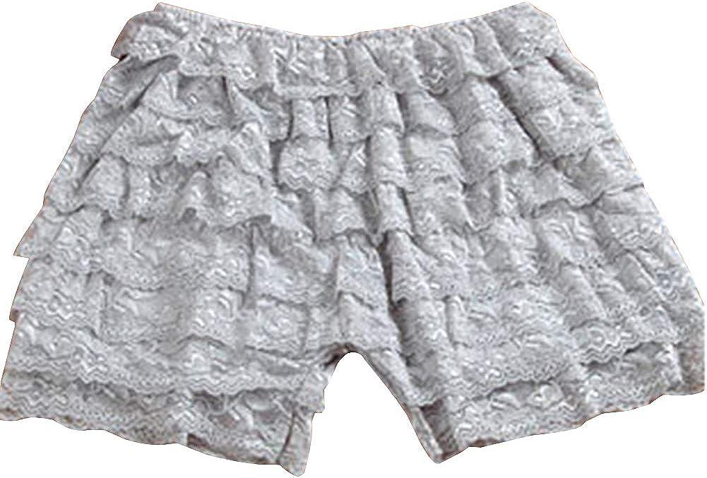 Quge Women s Lace Trim Legging Pantalones Cortos Pantalones De Seguridad Leggings Cortos Encaje Pantalones