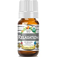 Essential Oil for Relaxation (USDA Organic - 100% Pure) Unique Blend of Essential Oils Recomended by Aromatherapists for Aromatherapy - 10ml