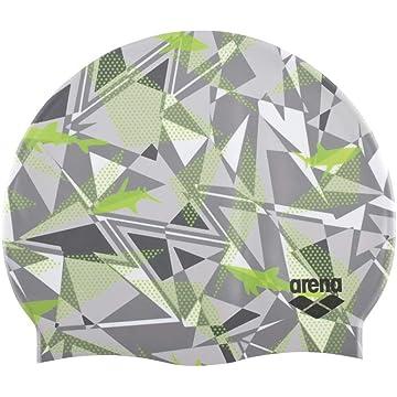 top selling arena Printed Silicone Swimming Cap