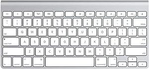 Apple Wireless Keyboard with Bluetooth - Silver (Refurbished)