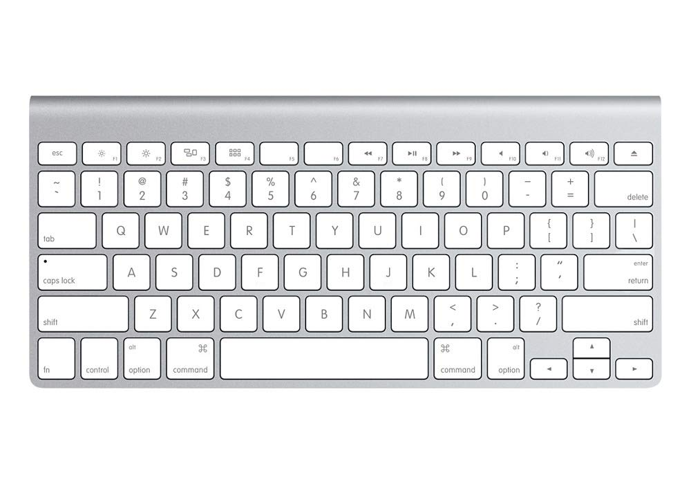 25b630b8cc5 Amazon.com: Apple Wireless Keyboard with Bluetooth - Silver (Refurbished):  Computers & Accessories