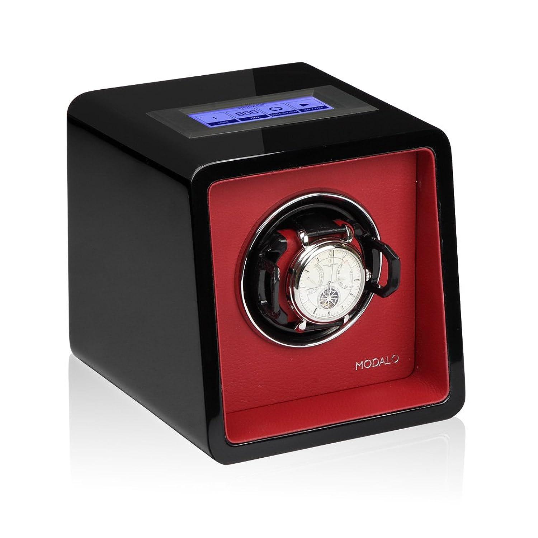 Modalo Saturn MV3 Tresor Uhrenbeweger fÜr 1 Automatikuhre in schwarz rot 1701143