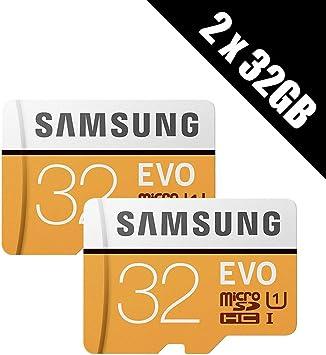 Multipack von 2/Karten und Adapter 2/x Samsung Speicher Evo Plus 32/GB Micro SDHC Card 95/MB//s UHS-I U1/Class 10/mit Adapter