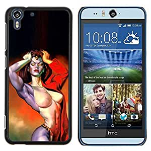 Dragon Case - FOR HTC Desire EYE M910x - demon woman sexy girl red hell biker - Caja protectora de pl??stico duro de la cubierta Dise?¡Ào Slim Fit